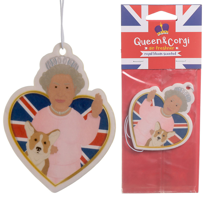 Royal Bloom Scented Queen and Corgi Air Freshener