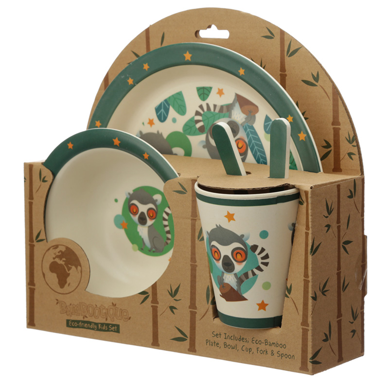 Bamboo Composite Lemur Mob Reusable Kids Dinner Set