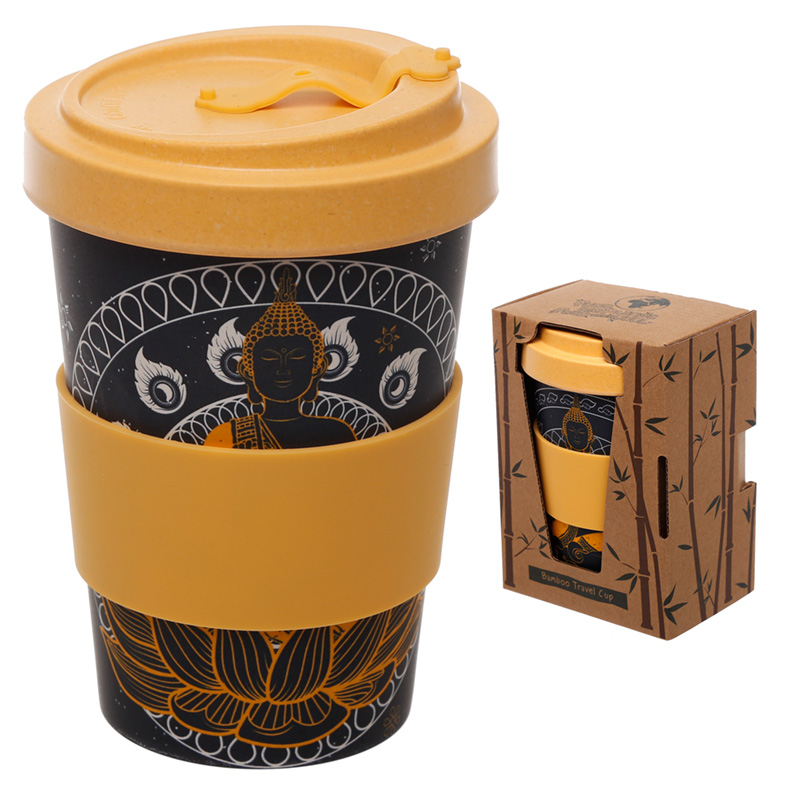 Bamboo Composite Thai Buddha Screw Top Travel Mug