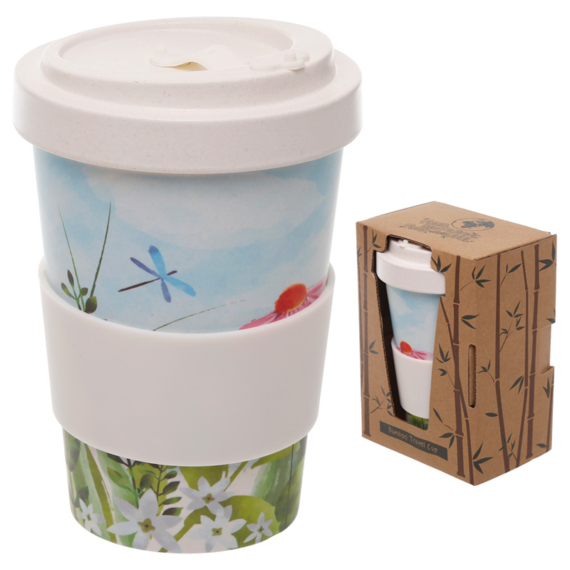 Bamboo Composite Botanical Gardens Screw Top Travel Mug