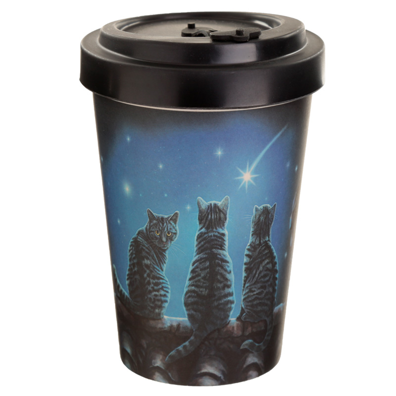 Bamboo Composite Wish Upon a Star Lisa Parker Cat Travel Mug