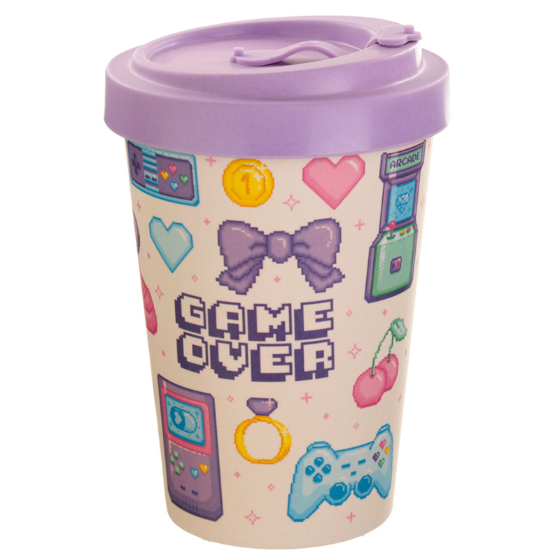 Bamboo Composite Retro Gaming Next Gen Game Over Travel Mug