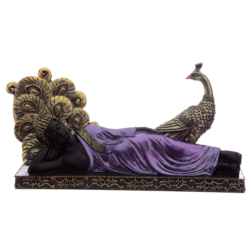 Decorative Purple and Black Buddha - Meditation