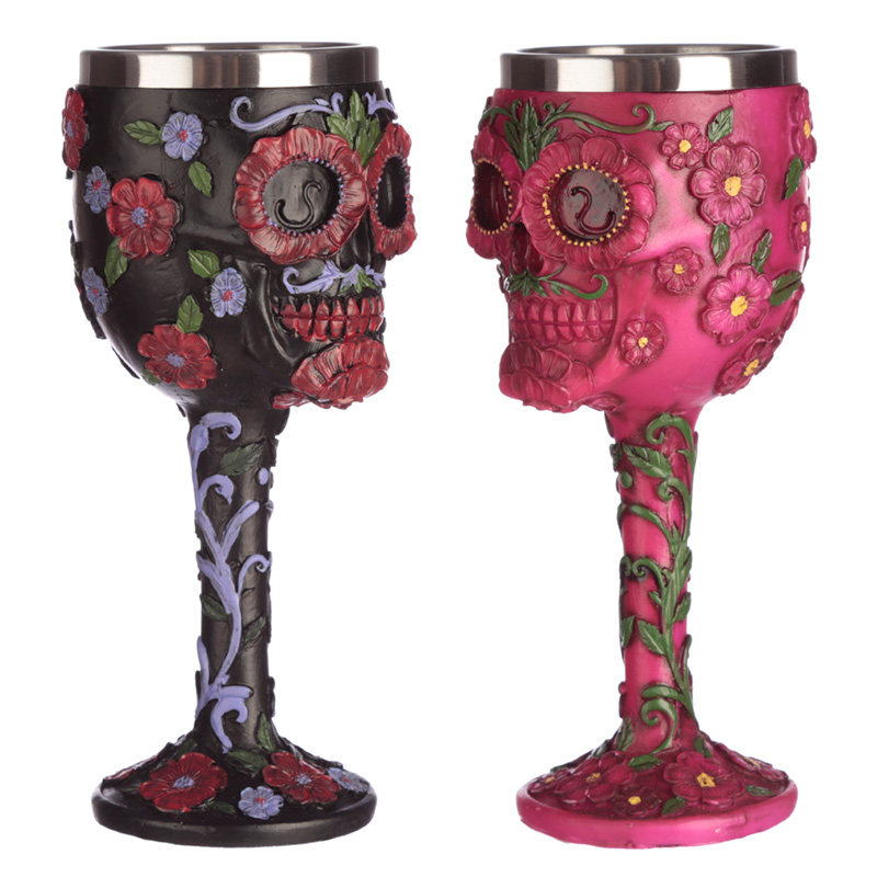 Collectable Decorative Day of the Dead Skull Goblet